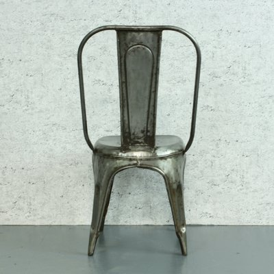 Vintage French Stripped Steel AC Tolix Cafe Chair By Xavier Pauchard For  Tolix 5