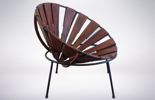 Bowl Chair in Leather by Lina Bo Bardi 1950s 5 & Bowl Chair in Leather by Lina Bo Bardi 1950s for sale at Pamono