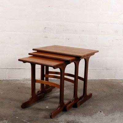 set de tables gigogne vintage danemark 1 - Table Gigogne Vintage