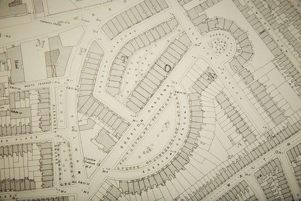 Mappa Vintage Ordnance Survey Di Brompton, Londra, Immagine 4