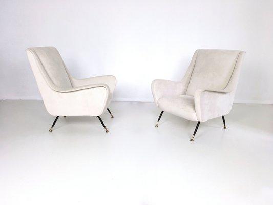 Weiße Sessel 1950er 2er Set Bei Pamono Kaufen