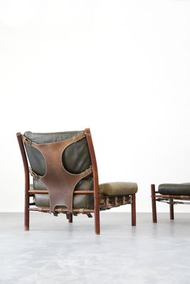 Mid-Century Lounge Chair u0026 Ottoman from Arne Norell 2  sc 1 st  Pamono & Mid-Century Lounge Chair u0026 Ottoman from Arne Norell for sale at Pamono