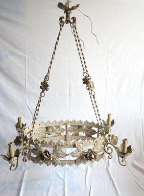Antique italian chandelier with lacquered bulb holders for sale at antique italian chandelier with lacquered bulb holders 1 aloadofball Gallery