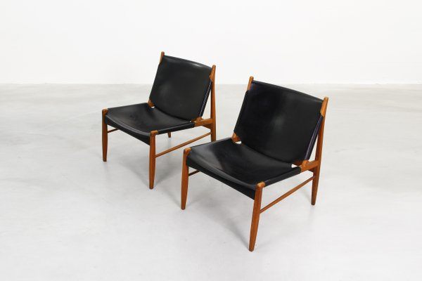 Lounge Chairs by Franz Xaver Lutz for WK Möbel, 1958, Set of 2 for ...