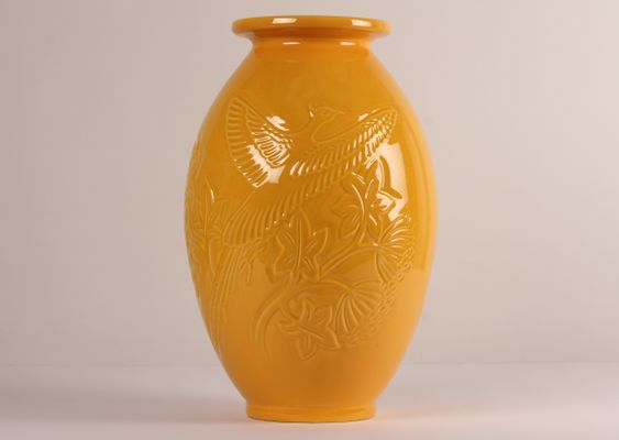 Large Yellow Ceramic Vase From Knabstrup 1970s For Sale At Pamono