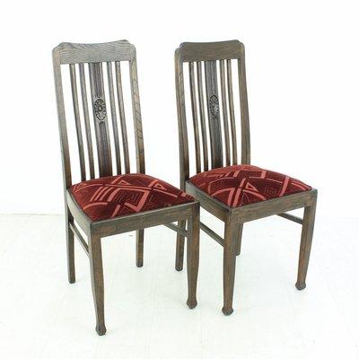 Vintage Oak Dining Chairs, 1920s, Set of 2 1 - Vintage Oak Dining Chairs, 1920s, Set Of 2 For Sale At Pamono