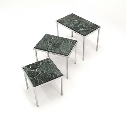 Green alps marble nesting tables 1970s for sale at pamono green alps marble nesting tables 1970s 2 watchthetrailerfo