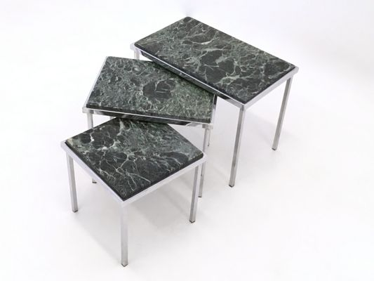 Green alps marble nesting tables 1970s for sale at pamono green alps marble nesting tables 1970s 1 watchthetrailerfo