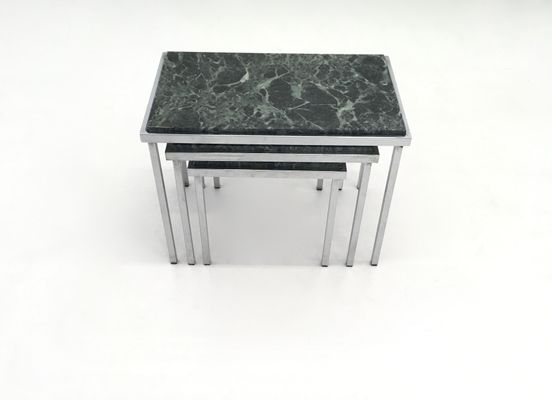 Green alps marble nesting tables 1970s for sale at pamono green alps marble nesting tables 1970s 4 watchthetrailerfo