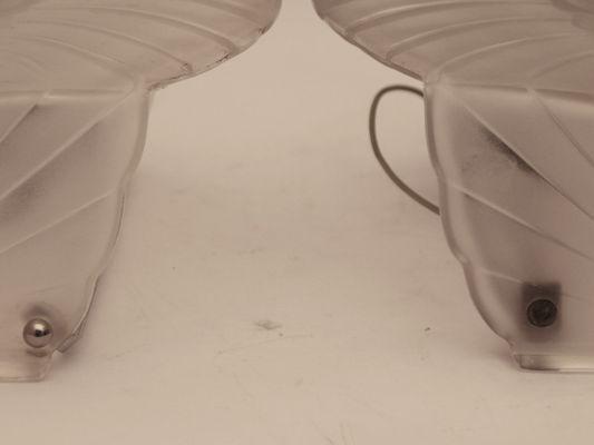 Französische art deco wandlampen von schneider er er set