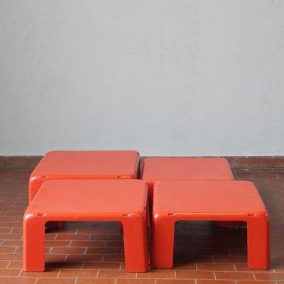 Tavolini da caffè Quattro Gatti in fibra di vetro di Mario Bellini per C&B  Italia, 1966, set di 4