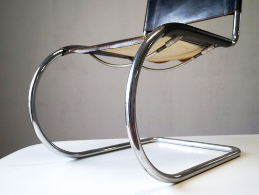 Vintage Mr 10 Lounge Chairs By Mies Van Der Rohe For Thonet Set Of