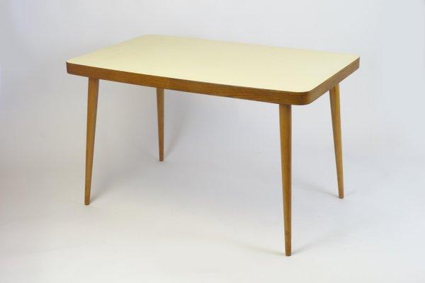 Tavolo Allungabile Giallo : Tavolo da pranzo con ripiano in legno giallo anni in vendita