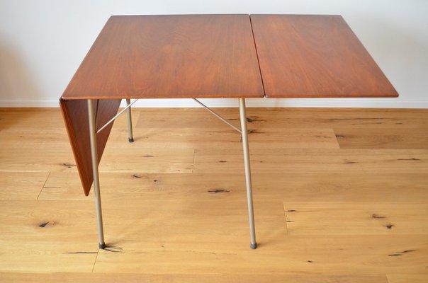 Table De Salle A Manger Pliante Modele 3601 En Teck Par Arne Jacobsen Pour Fritz Hansen 1950s