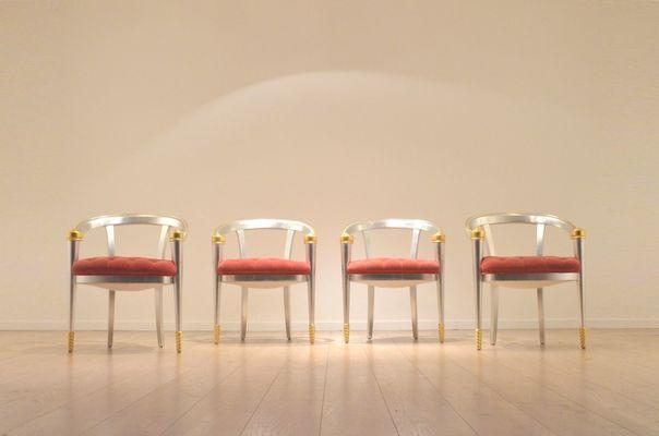 Vintage Italian Gold U0026 Silver Leaf Coffee Table U0026 Lounge ...