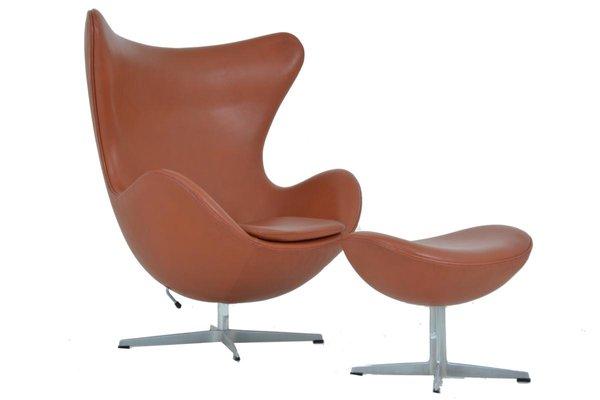 Arne Jacobsen Egg Chair.Egg Chair Footstool By Arne Jacobsen For Fritz Hansen For Sale