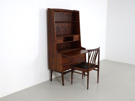 Vintage Secretary Desk >> Vintage Danish Rosewood Secretary Desk With Pullout Surface