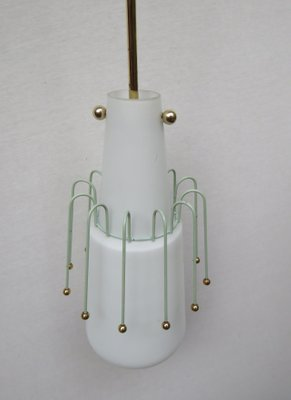 Italian Gl Pendant Light 1950s For