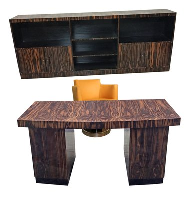 Schreibtisch Bücherregal Und Sessel Set Von Maurice Alet 1930 Bei