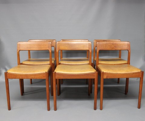 Dining Room Chairs By N.O. Møller For J.L. Møller, 1960s, Set Of 6 1