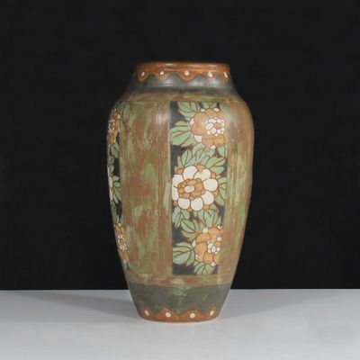 Vintage Belgian Art Deco Vase By Charles Catteau For Keramis For