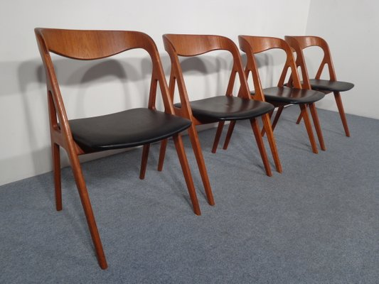Tremendous Vintage Teak Dining Chairs From Vamo Set Of 4 Squirreltailoven Fun Painted Chair Ideas Images Squirreltailovenorg