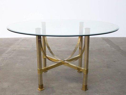 Tavolo Da Pranzo In Vetro : Tavolo da pranzo in ottone e vetro di maison jansen in vendita su