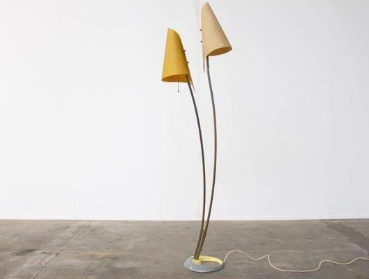 German Yellow Floor Lamp 1960s For