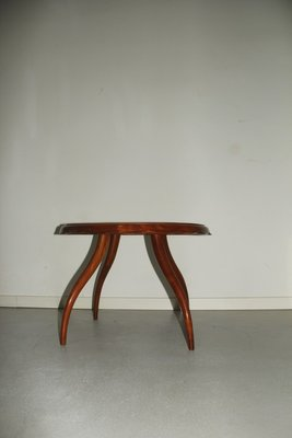 Round Italian Table With Curved Legs 1940s