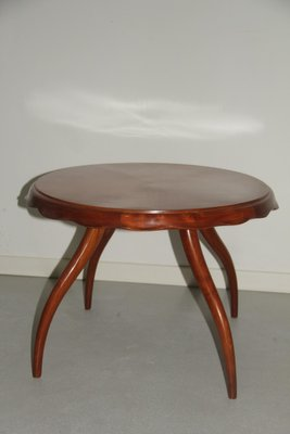 Round Italian Table With Curved Legs 1940s 1