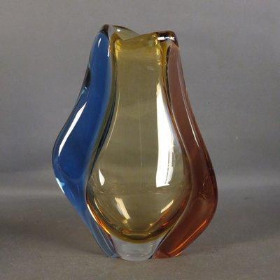 Bohemian Glass Vase By Hana Machovska For Mstisov Glassworks For
