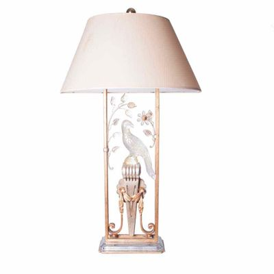 Merveilleux Gilted Metal U0026 Crystal Parrot Table Lamp, ...