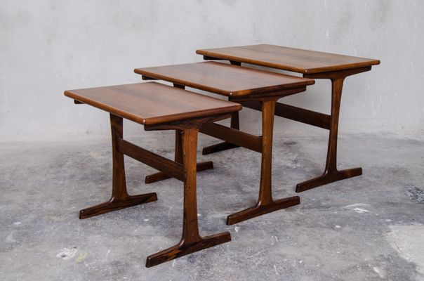 tables gigogne vintage par kai kristiansen pour vildbjerg mobelfabrik 1 - Table Gigogne Vintage
