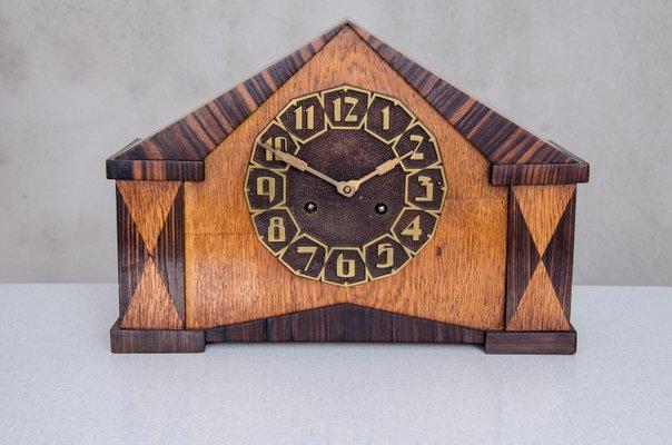 Orologio da tavolo o da camino art déco anni in vendita su pamono