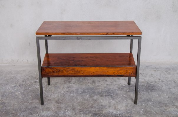 Danish Rosewood Side Table With Magazine Rack 1960s