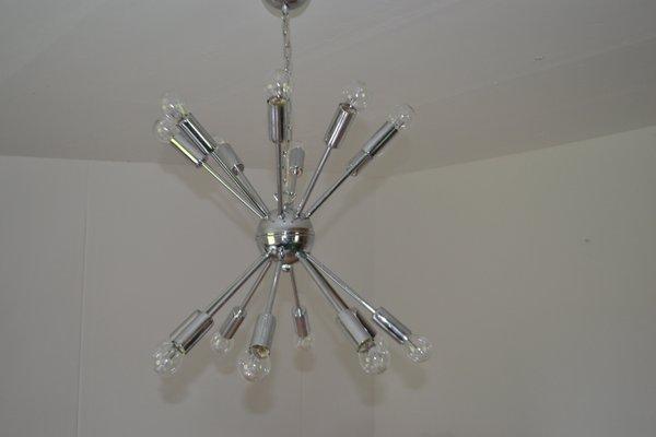 lámpara de techo sputnik vintage con 16 luces en venta en pamono