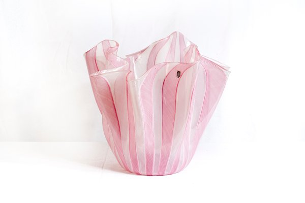 Handkerchief Glass Vase By Fulvio Bianconi For Venini 1950s For
