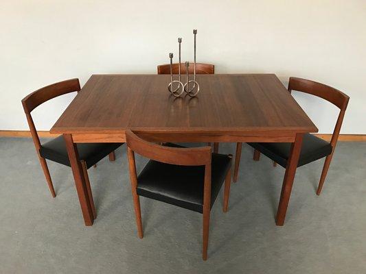 Table De Salle A Manger Scandinave Vintage En Teck Par Nils Jonsson
