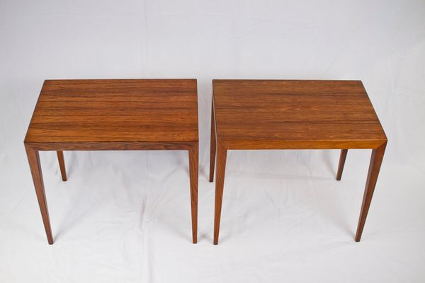 Mid Century Brazilian Rosewood Side Tables By Severin Hansen, Set Of 2 3