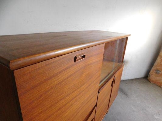 Credenza Con Cesti : Credenza grande in teak con ante scorrevoli vetro anni 60