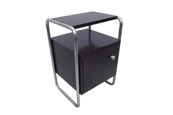 Vintage Black Bedside Cabinet 1