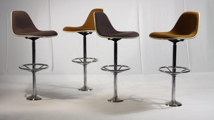 Sgabelli bar vintage di ray charles eames per herman miller set