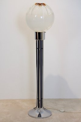 Lampada Da Terra Anni 70.Lampada Da Terra In Vetro Di Mazzega Italia Anni 70