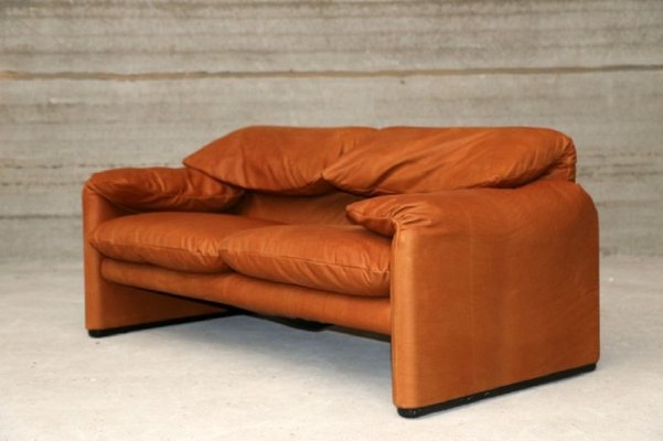 Vintage Maralunga Two Seater Sofa By Vico Magistretti For Cassina