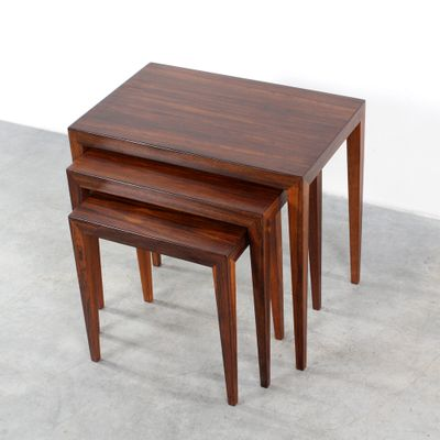 Superb Mid Century Nesting Tables By Severin Hansen Jr For Haslev 1
