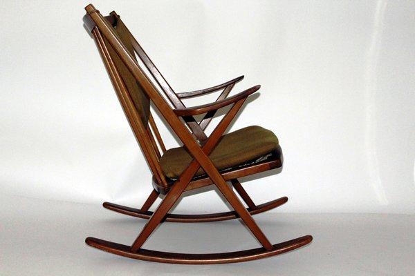 Beau Danish Rocking Chair By Frank Reenshang For Bramin, 1960s 1