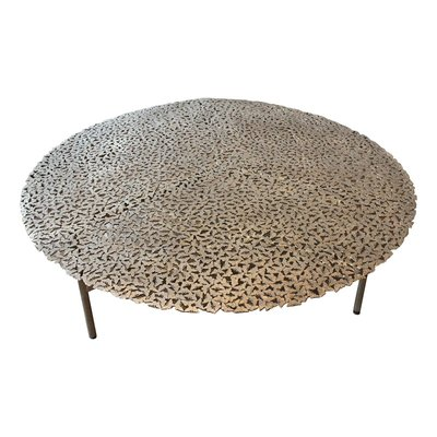 Jean Cast Butterfly Indoor Or Outdoor Coffee Table In White Bronze By Fred  U0026 Juul 1