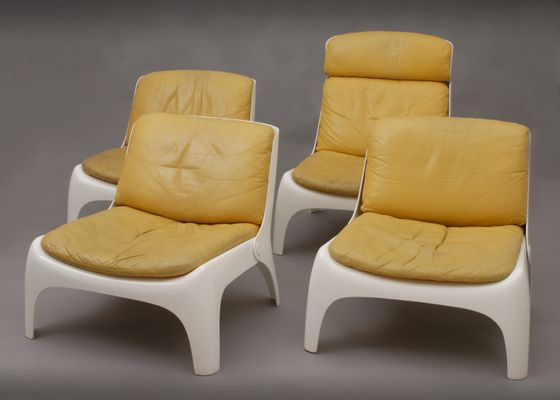 Easy Fiberglass Chairs, 1970s, Set Of 4 1