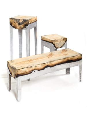 Sensational Wood Casting Console Table By Hilla Shamia The Exceptional Andrewgaddart Wooden Chair Designs For Living Room Andrewgaddartcom