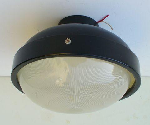 Lampada da soffitto a diffusione di gino sarfatti per arteluce